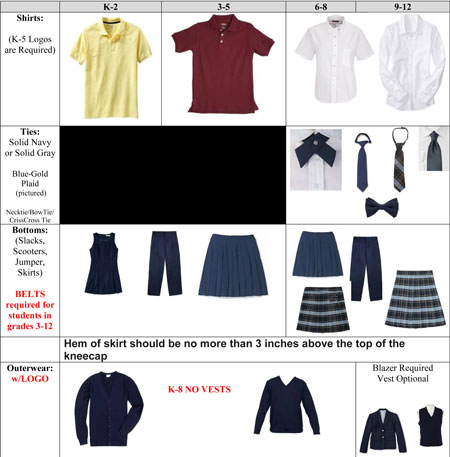 New uniforms for 2014-2015. Click here for dress code information.