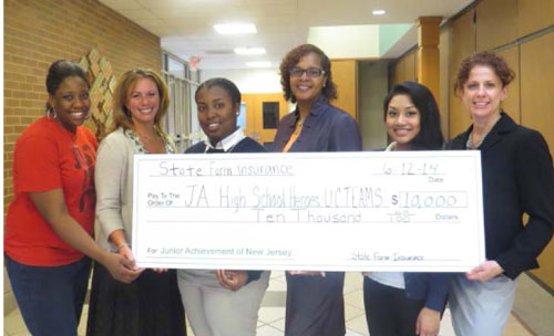State Farm Donates $10,000 to Support Service Learning with JA High School Heroes