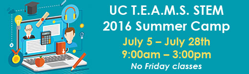 UCTEAMS STEM 2016 Summer Camp Class Hours